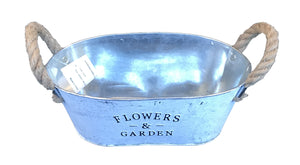 Iron Craft Garden Flowerpot Oval Shape                    (690 00012125001 )