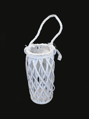Small Candle Lantern Column Shape - White              (690 00014809001)