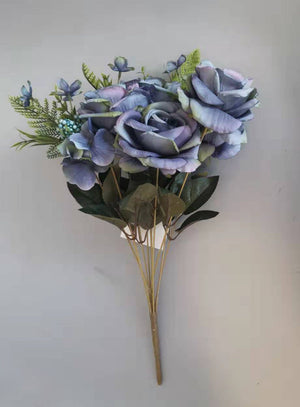 Artificial Rose 6205 11B - Blue