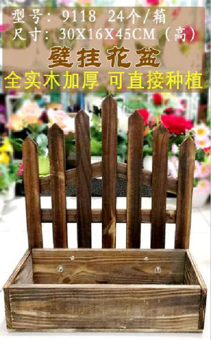 Wooden Crate Fence 30x16x45 - 9118 (9352272018247)