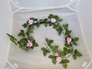 Small Rose Flower Vine 2M - Pink