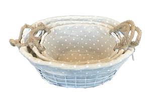 Iron Craft Basket Set of 3OvalShape             (690 00010878001 690 00010878002.690 00010878003)