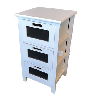 Storage Cabinet with 3 Wooden Drawers                      (69000001506101)