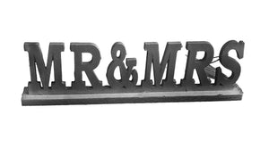 Wooden MR & MRS Plaque -  Grey (69000145098001)