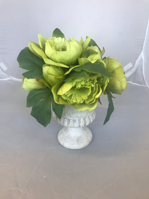 Artificial Flower with Vase 17146 - Green