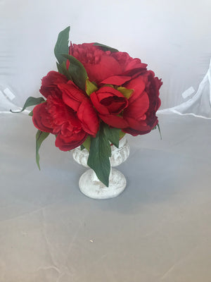 Artificial Flower with Vase 17146 - Red