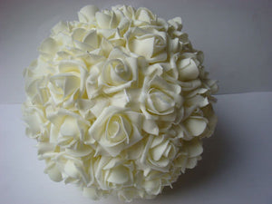 PVC Artificial Flower Ball Red 18cm