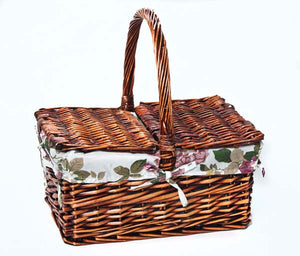 Square Picnic Basket - Brown        (9300000615901)