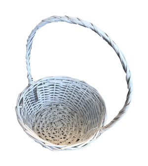 Hamper Basket Round Single - White (69000000016901)