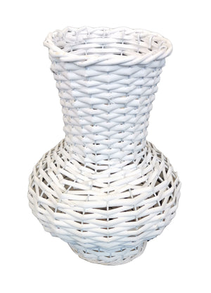 Willow Vase Bottle Shape Small 15x28 - White