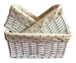 Square Basket 3 in 1 Set -  White            (9300000560001 9300000560002 9300000560003)