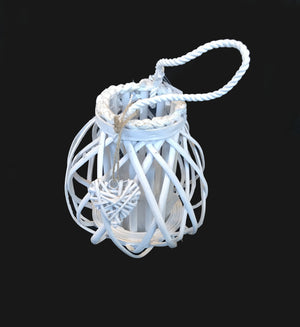 Extra Small Candle Lantern with Heart - White  (690 00010428001)