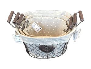 Iron Craft Basket Set of 3 with(690 00006087001 690 00006087002   690 00006087003 )