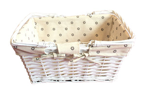Large Picnic Basket without lid - White (93000000703000)
