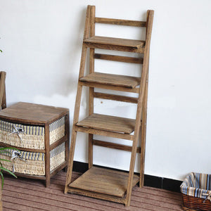 Wooden Rack 4 Levels - Brown                                    (69000001505801)