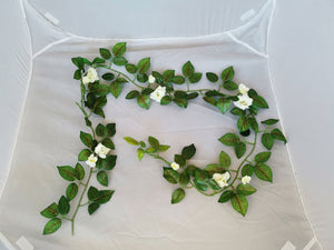 Small Rose Flower Vine 2M - Cream