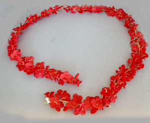 Artificial Flower Garland 9201 - Red