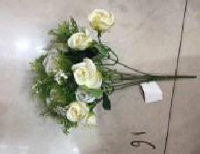 Artificial Flower Mini Rose 15H - 1601 (9352272016090)