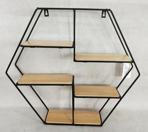 Floor display rack hexagon shape