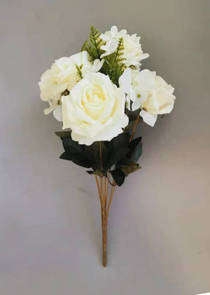 Artificial Rose 6205 11B - White