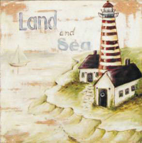 Wooden Picture Lighthouse 25.4x25.4 - 0929 (9352272020998)