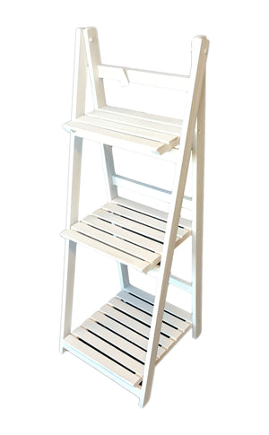 Wooden Rack 3 Levels - White                                            (69000001505701)