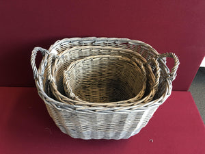 Thick Willow Basket 3 in 1 Set - Grey       (9300000612401 9300000612402 9300000612403)