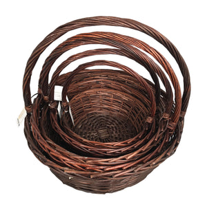 Large Hamper Basket Set of 3 - Brown