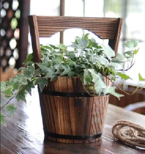 Wooden Hanging Flower Bucket 25x18 (9352272018339)