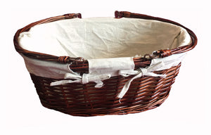 Oval Shape Picnic Basket without Lid - Brown (93000000470001)