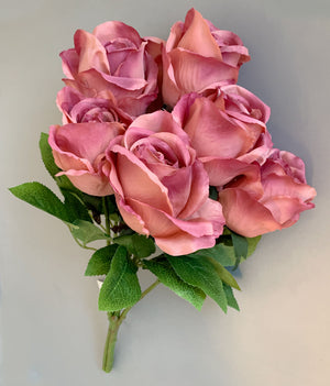 Artificial Flower Rose 7H - Pink