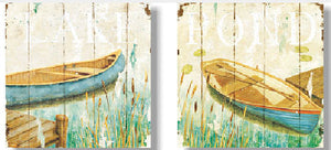 Wooden Picture Boat 25.4x25.4 - 1253 (9352272021032)
