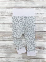 RTS Grey Leopard Leggings NB, 0-3, 3-6, 6-9, 9-12, 12-18, 2T, 3T, 4T