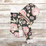 charcoal floral leggings