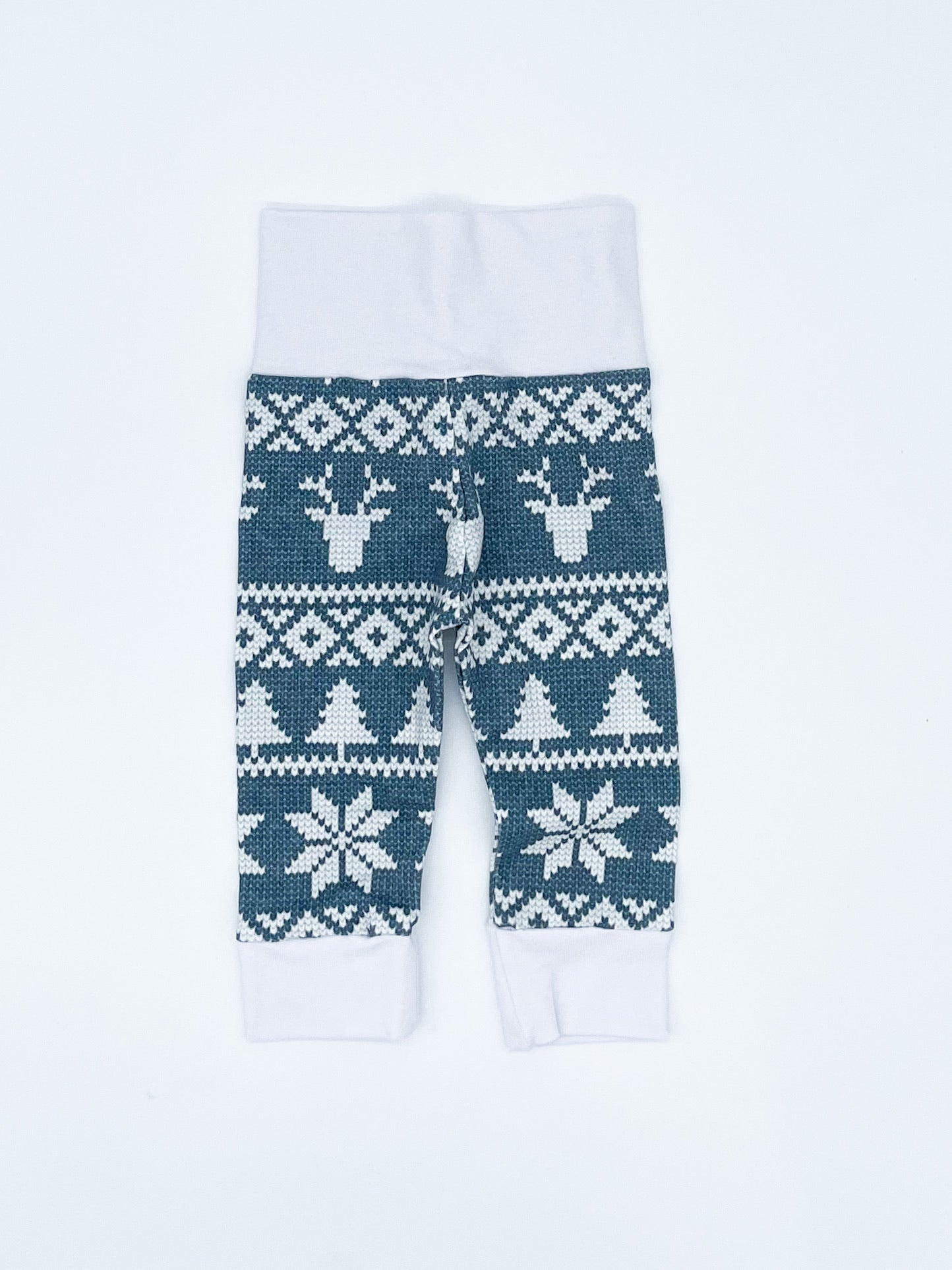 RTS Blue Fair Isle Leggings - NB