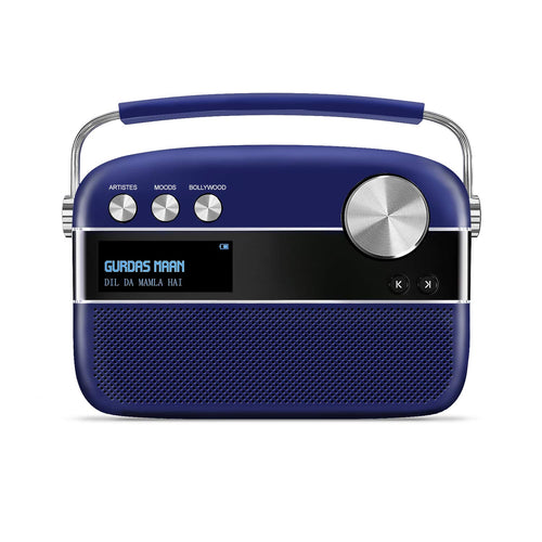 Saregama Carvaan Premium - Punjabi (Royal Blue) with App connectivity - Saarthi Media