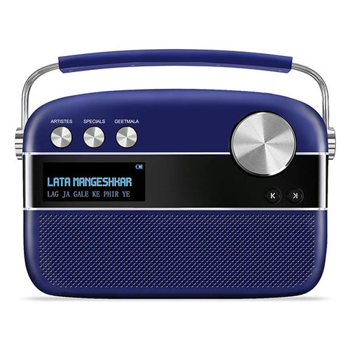 Saregama Carvaan Premium - Hindi (Royal Blue) With App Connectivity iOS & Android - Saarthi Media
