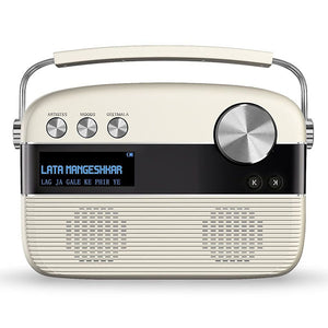 Saregama Carvaan HINDI Portable Digital Music Player (Porcelain White) - Saarthi Media