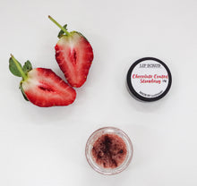 Load image into Gallery viewer, Chocolate Coated Strawberry Natural Lip Scrub