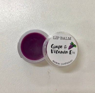 Grape and Vitamin E Natural Handmade Lip Balm