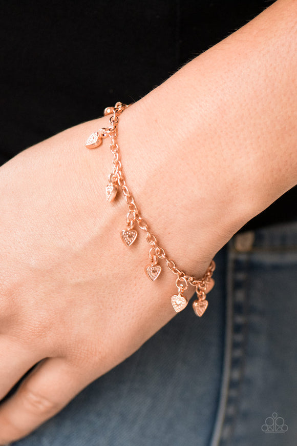 Closer To The Heart - Shiny Copper Bracelet