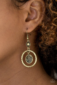 Meadow Gardens - Brass Earrings