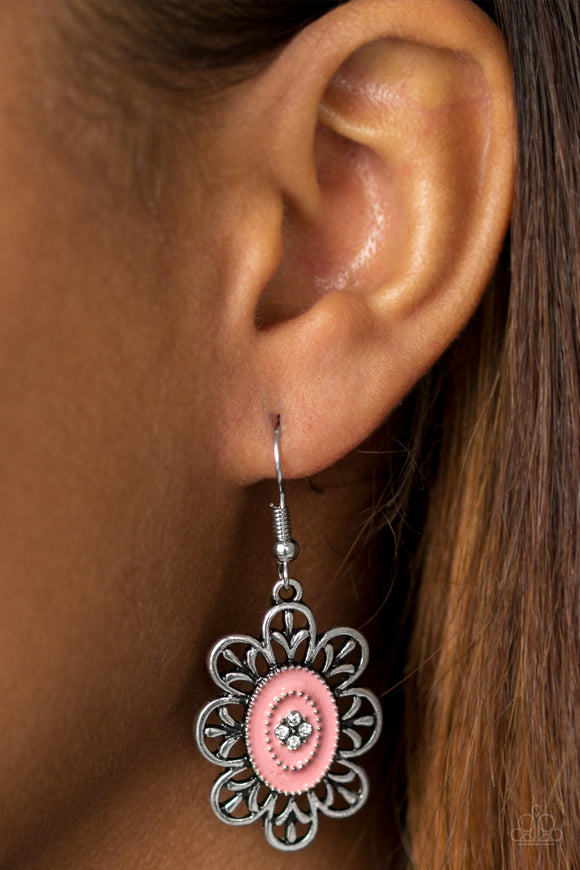 Posy Party - Pink Earrings