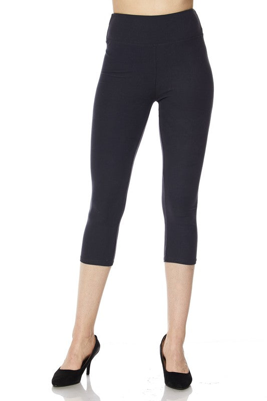 Brushed Capri Leggings Charcoal (3