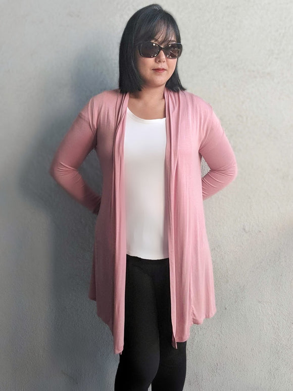 Waterfall Cardigan - Ash Rose