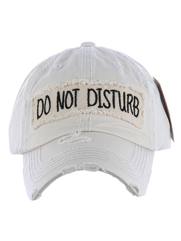 Do Not Disturb Baseball Cap - Ivory