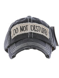 Do Not Disturb Baseball Cap - Black