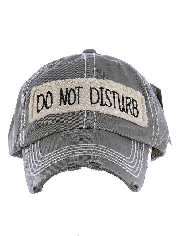 Do Not Disturb Baseball Cap - Gray