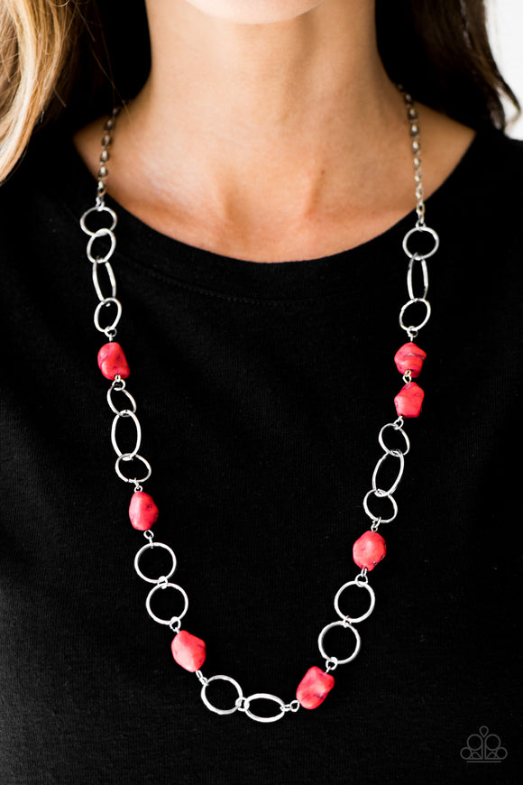 Canyon Trip - Red Necklace Set