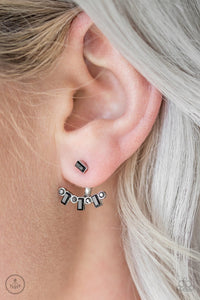 Courageously Cosmo - Black Earrings